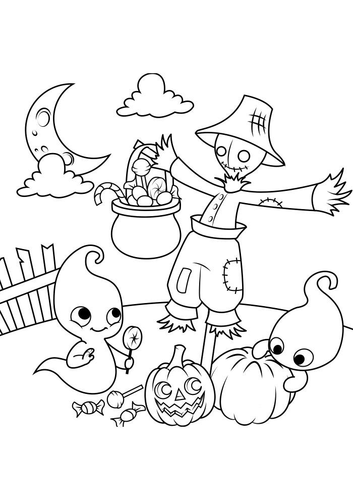 halloween para colorir 17
