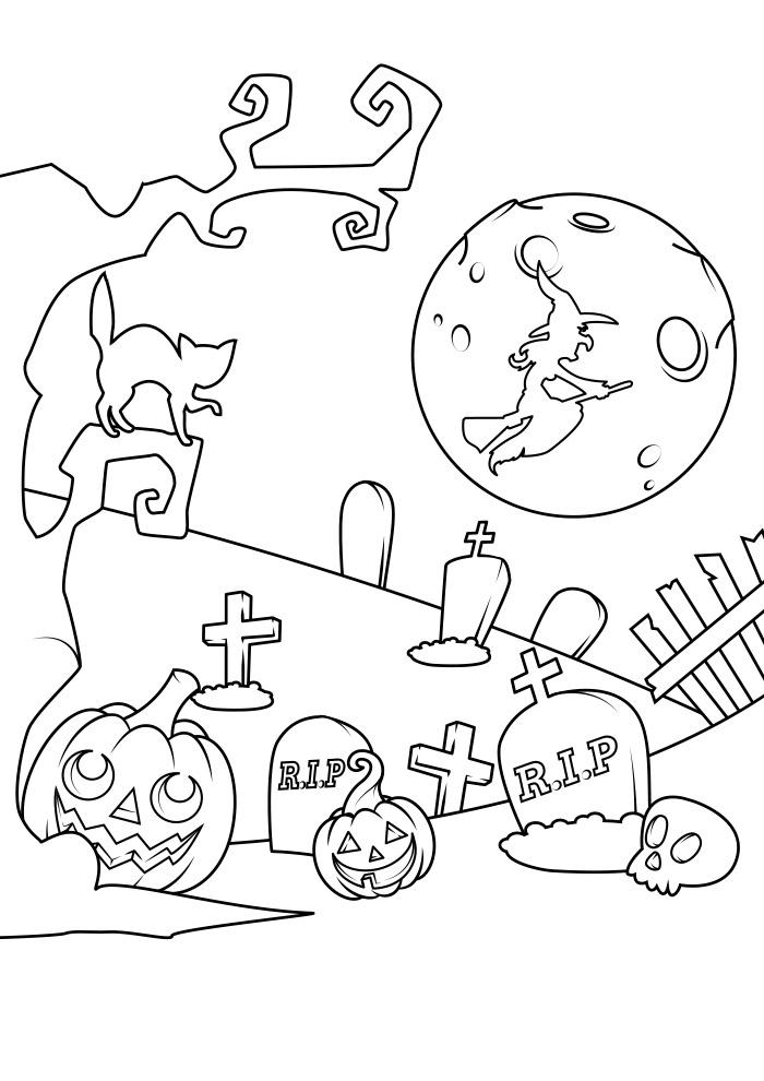 halloween para colorir 19