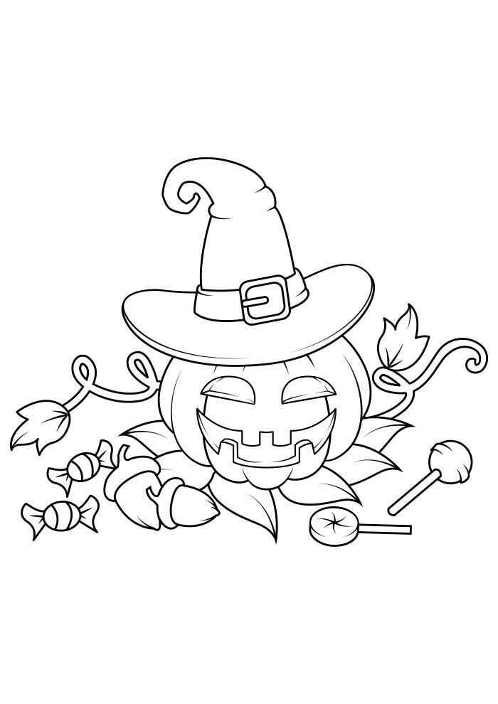 halloween para colorir 2