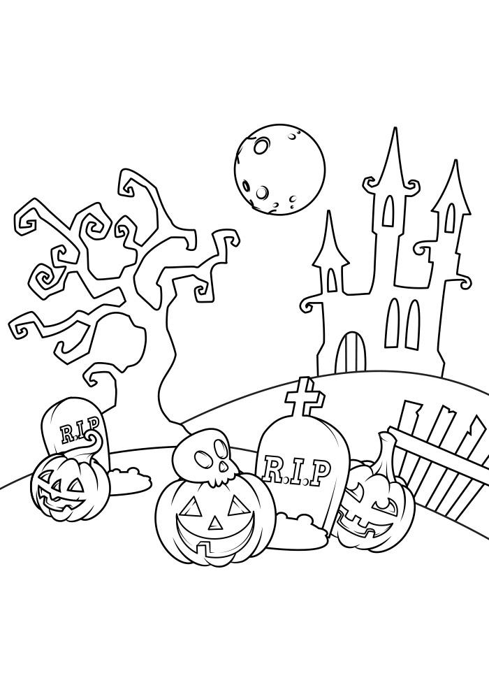 halloween para colorir 20