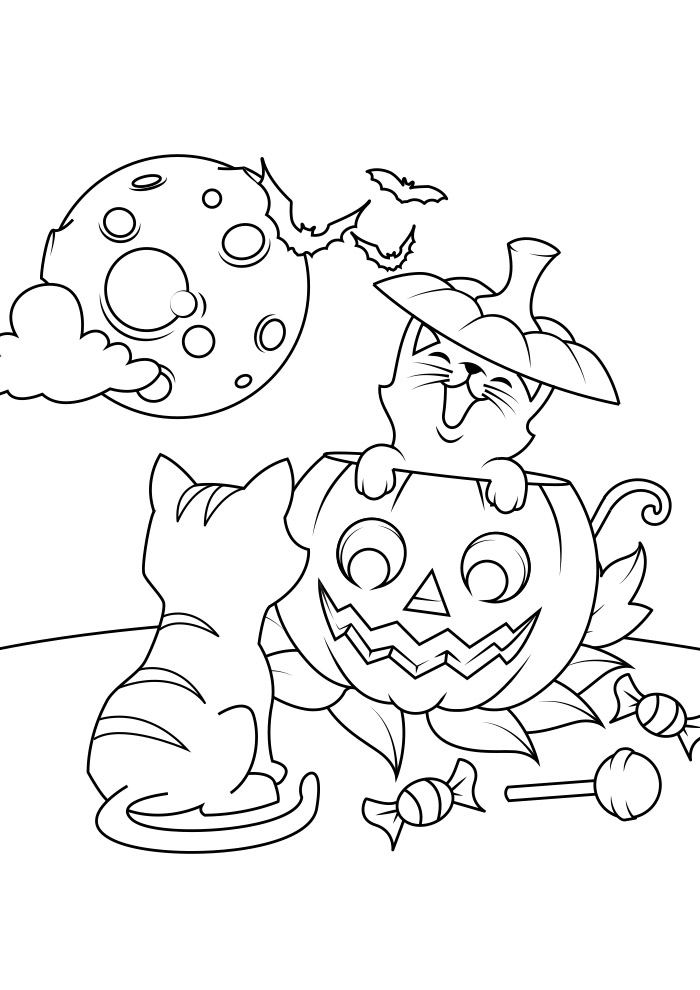 halloween para colorir 4