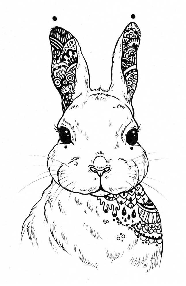 imagem de coelho para colorir
