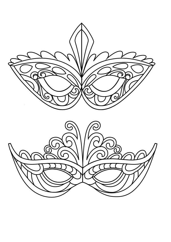 mascaras carnaval para imprimir