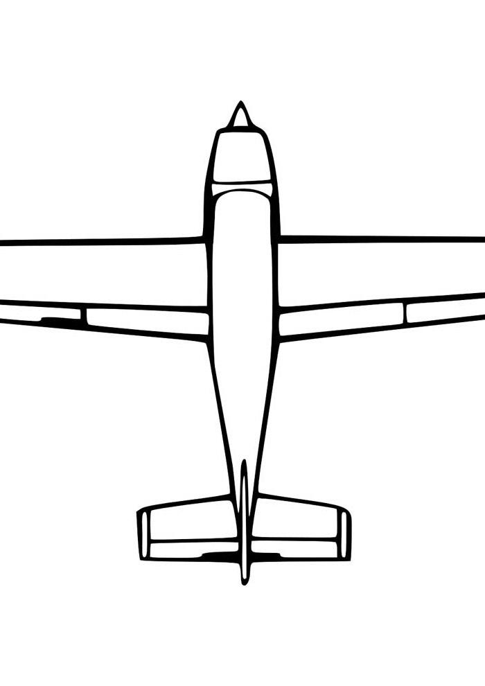 aviao para colorir 17