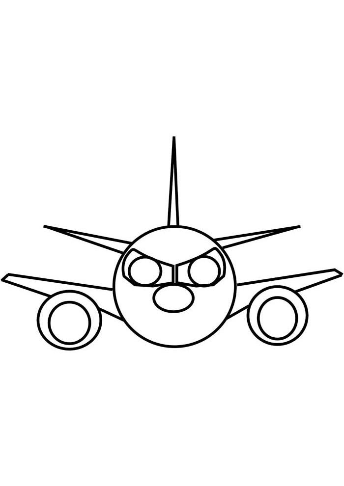 aviao para colorir 34