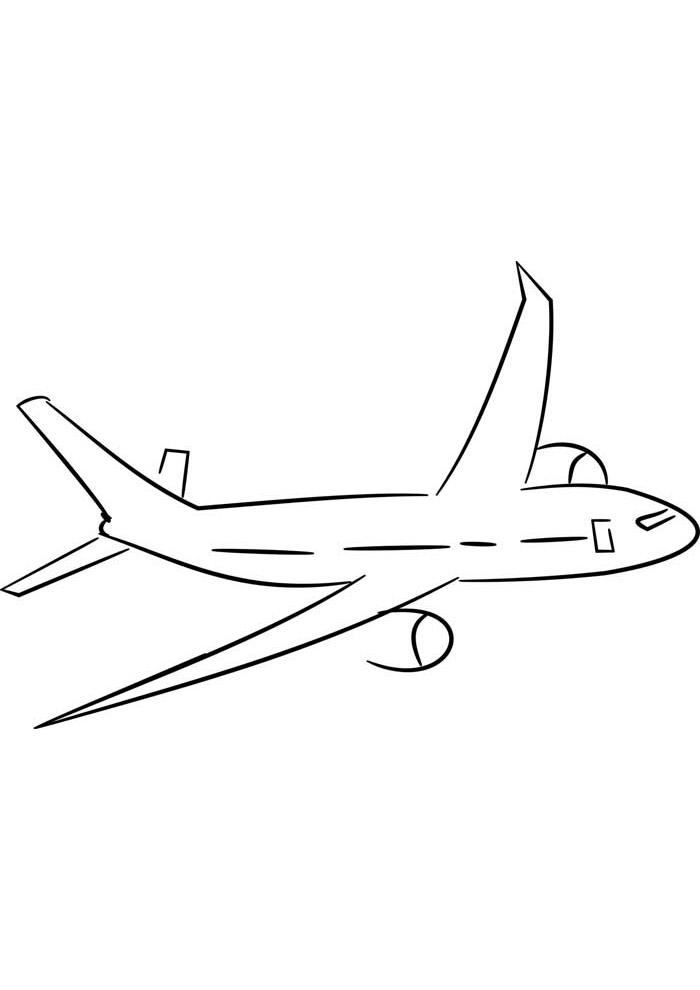 aviao para colorir 36