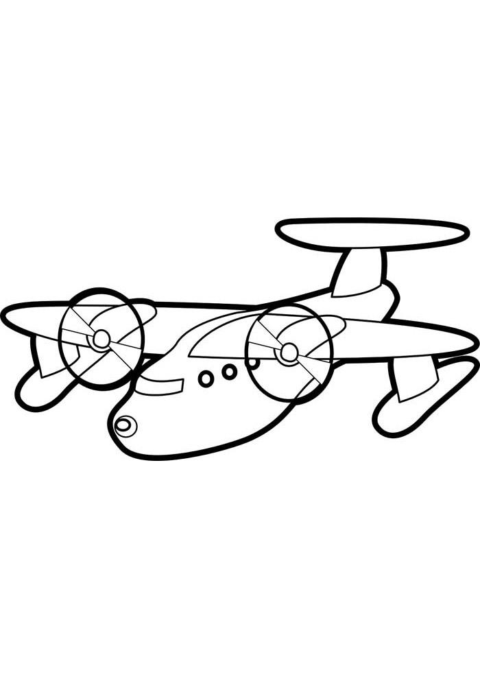 aviao para colorir 38