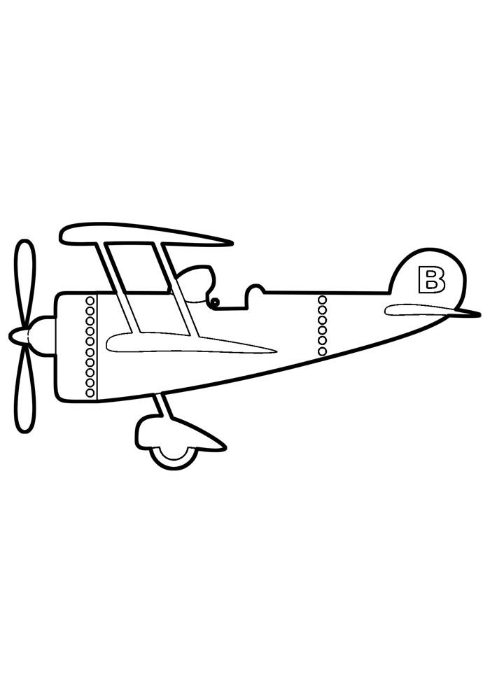 aviao para colorir 9