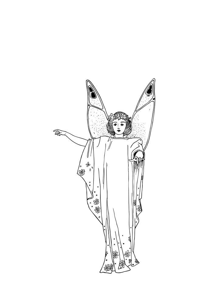 desenho de fada 5