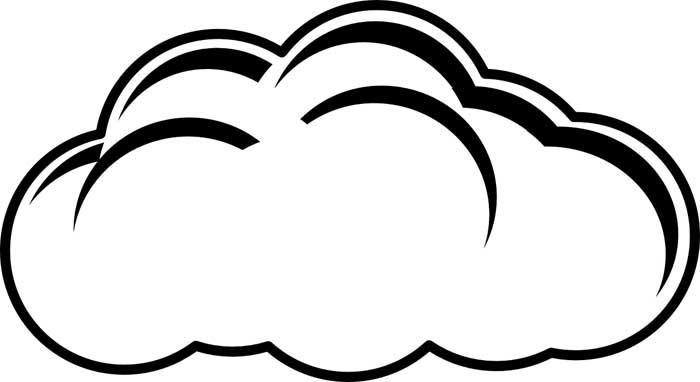 desenho de nuvem 11