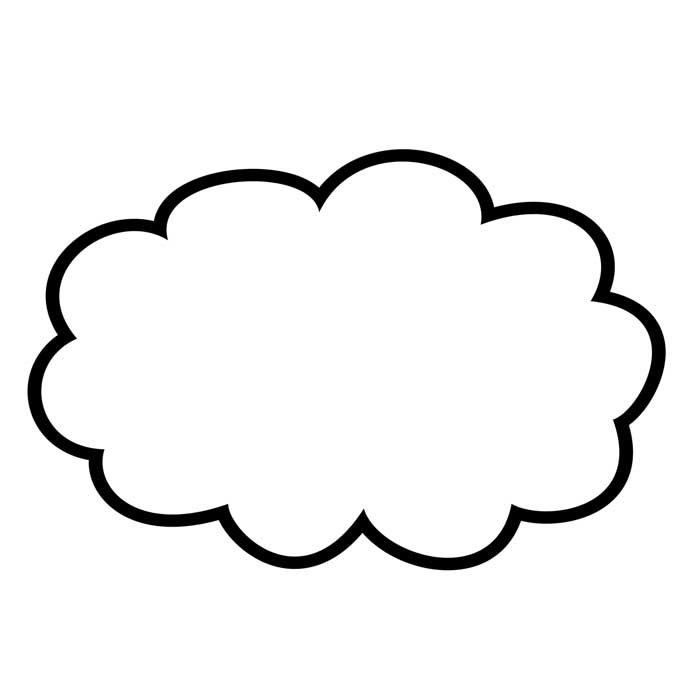 desenho de nuvem 21