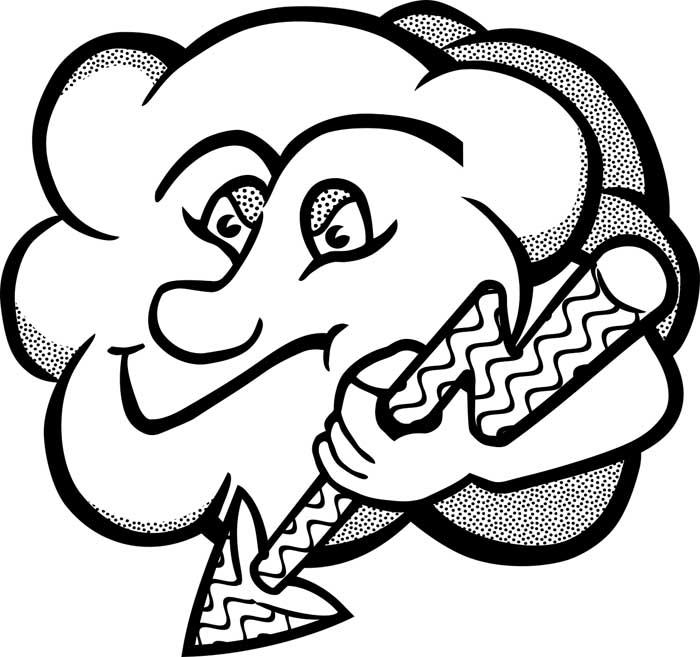 desenho de nuvem 4