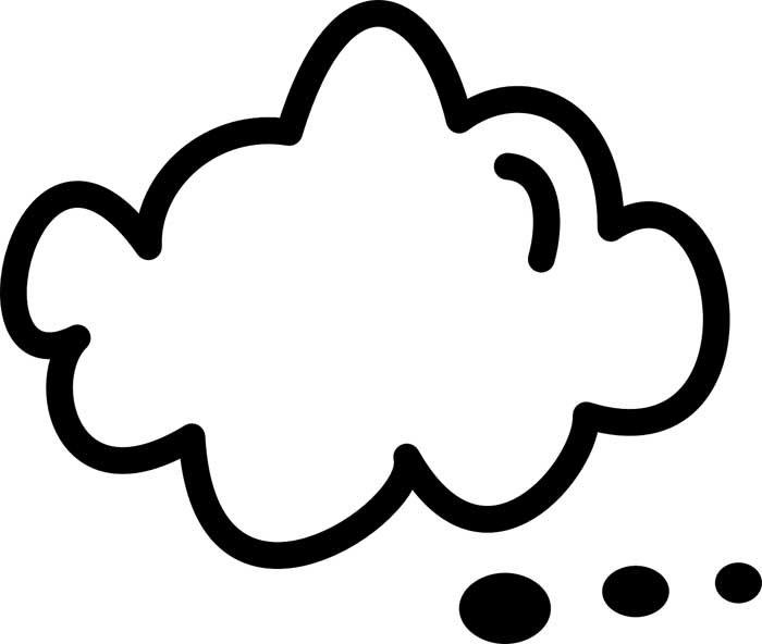 desenho de nuvem 7