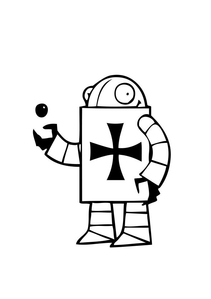 desenho de robo 12
