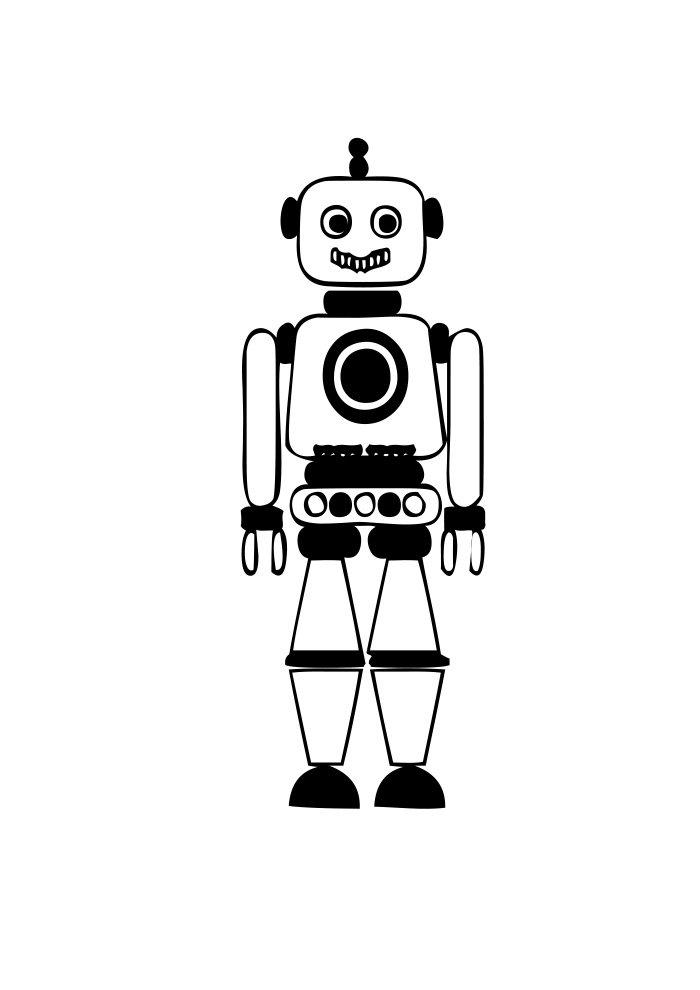 desenho de robo 13