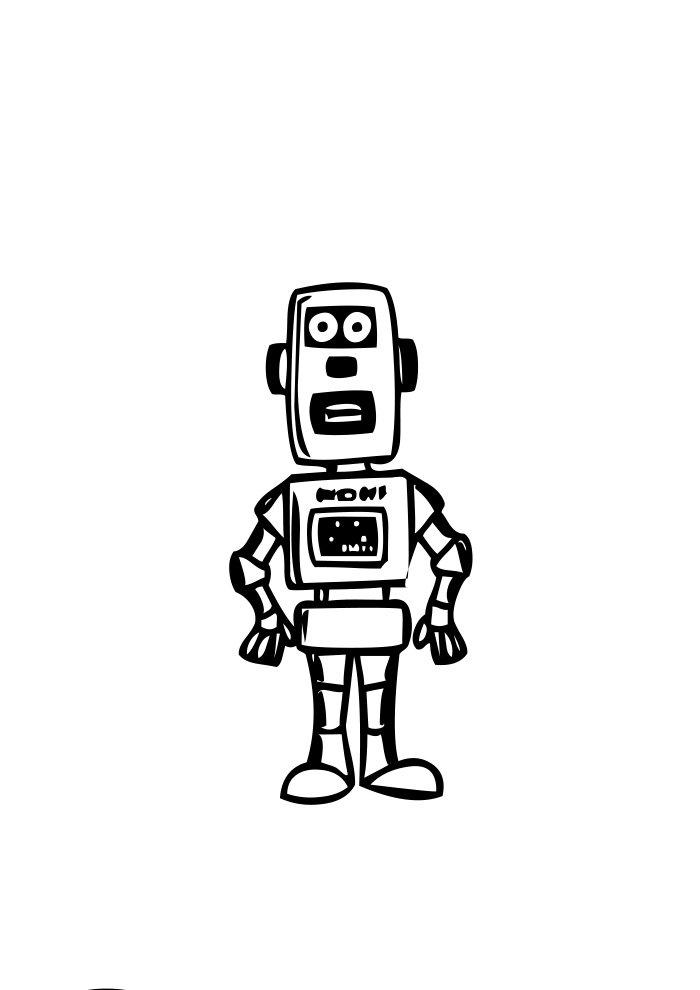 desenho de robo 2