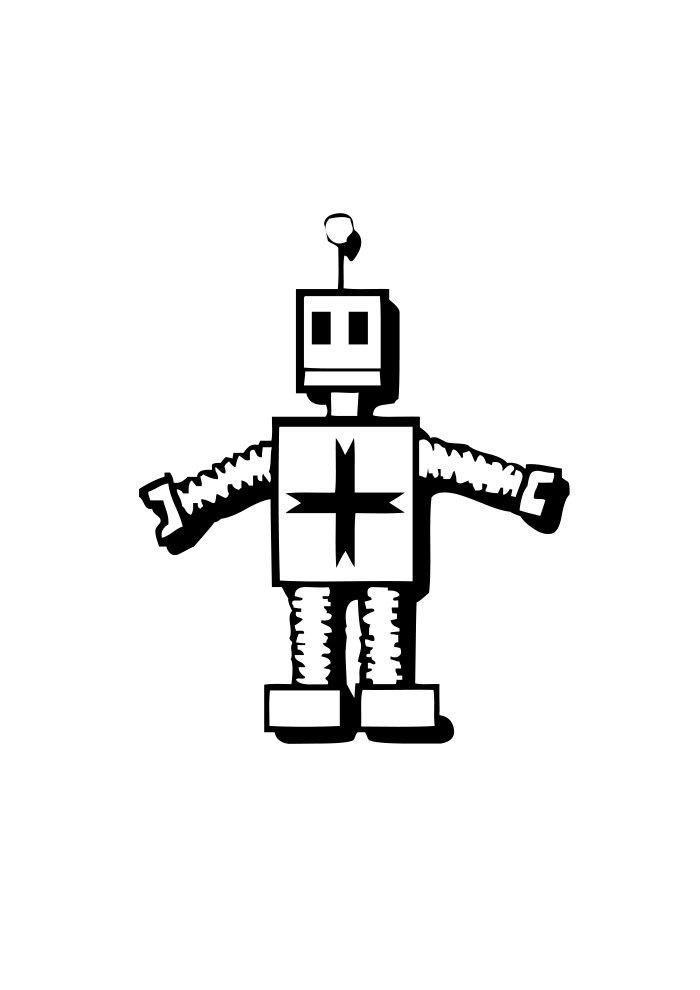 desenho de robo 4