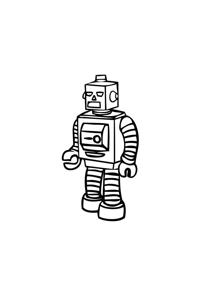 desenho de robo 5