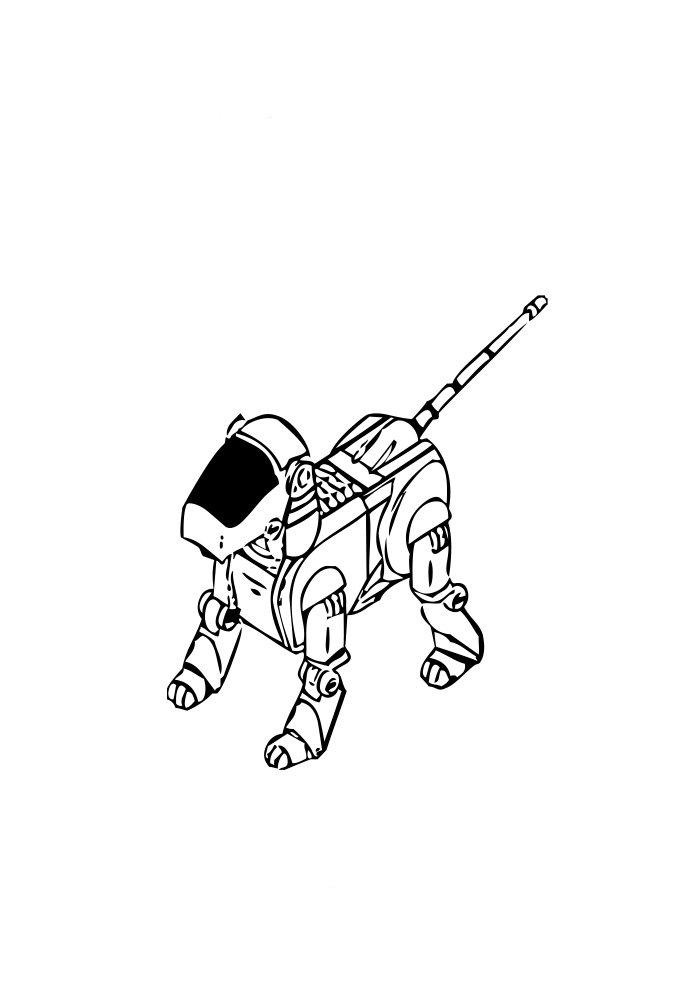 desenho de robo 8