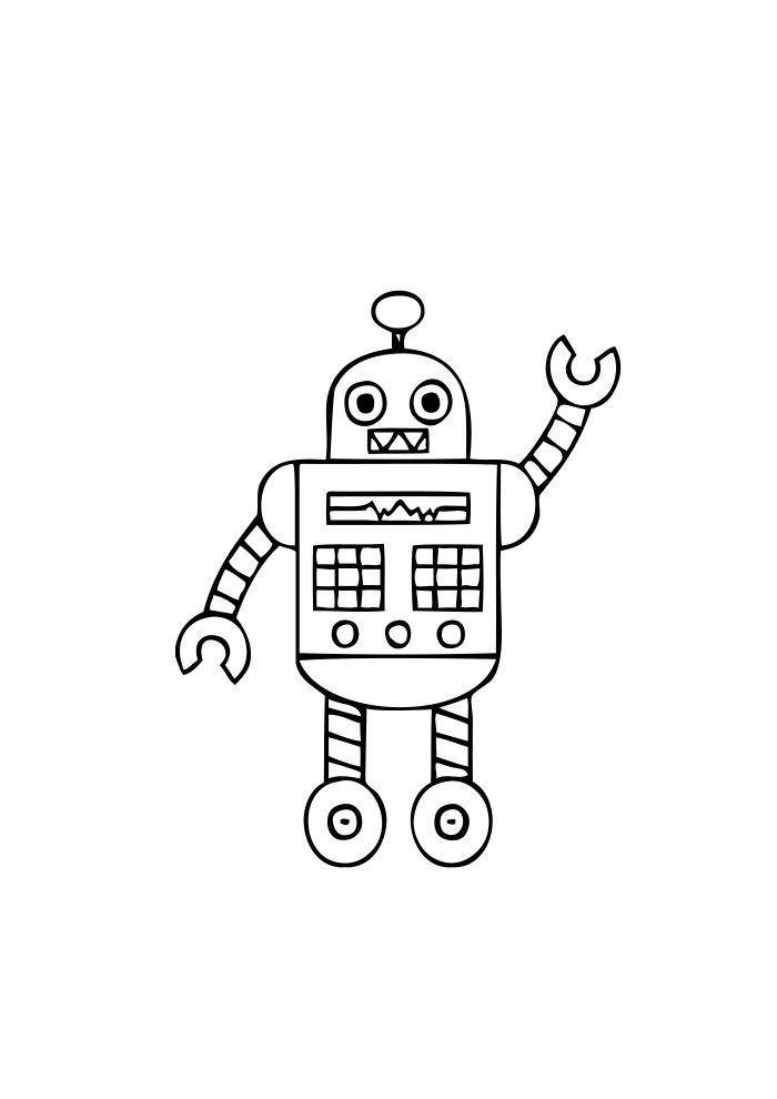 desenho de robo 9