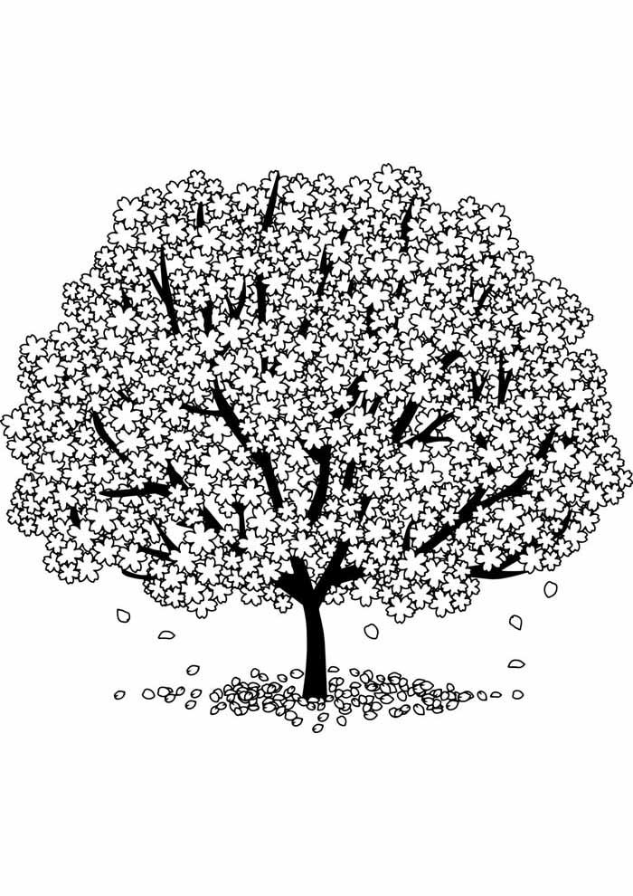 árvore para colorir algodão