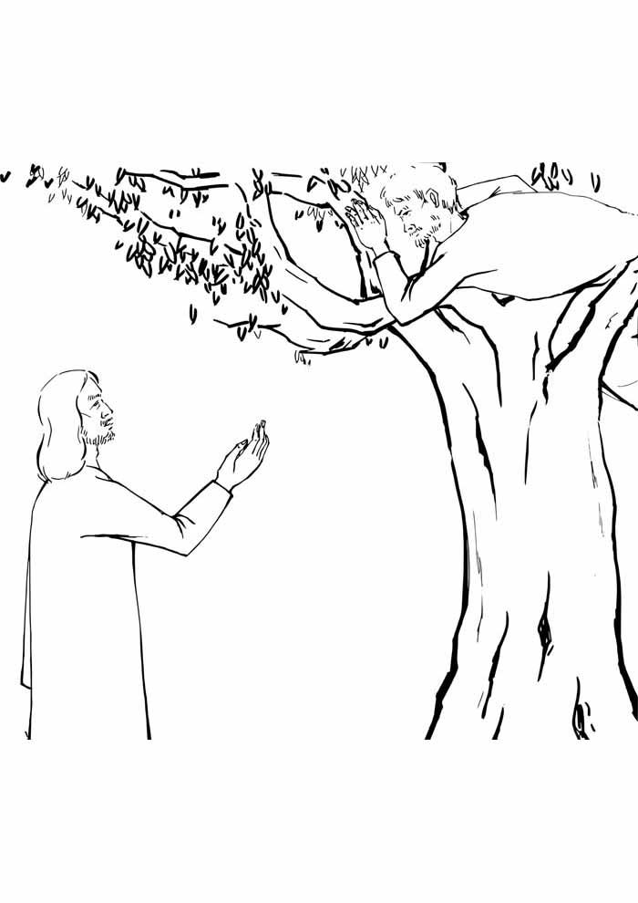 árvore para colorir Jesus salvando
