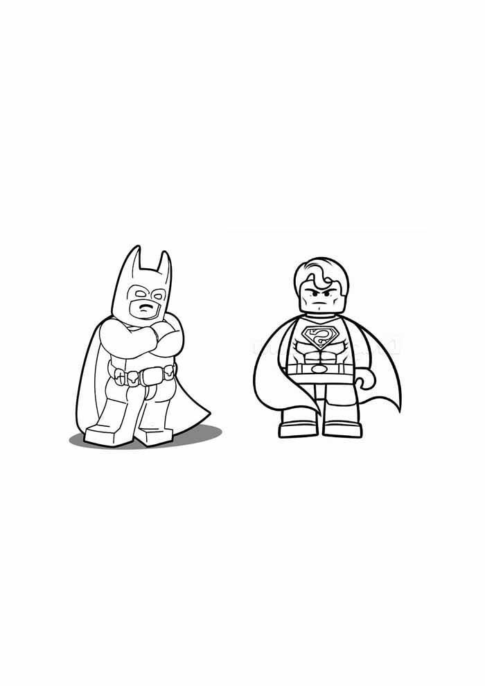 batman e robin lego para colorir37