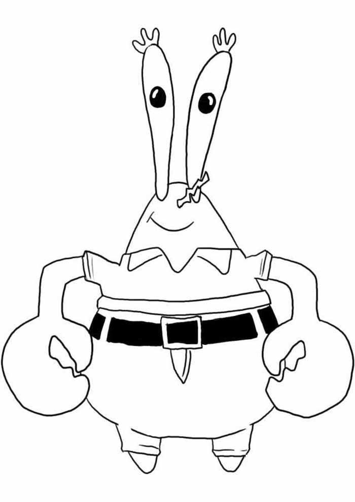 bob esponja para colorir mr krabs