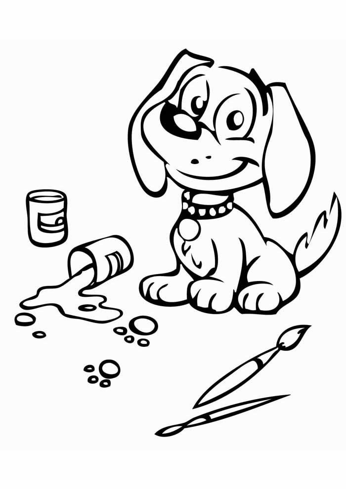 cachorro-para-colorir-fazendo-arte