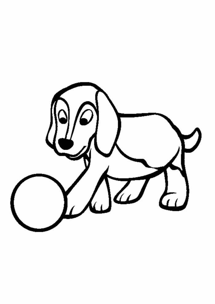 cachorro-para-colorir-jogando-bola