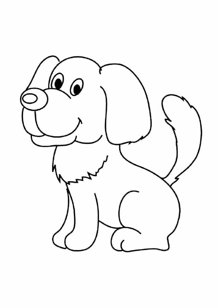 cachorro-para-colorir-sentado-de-lado