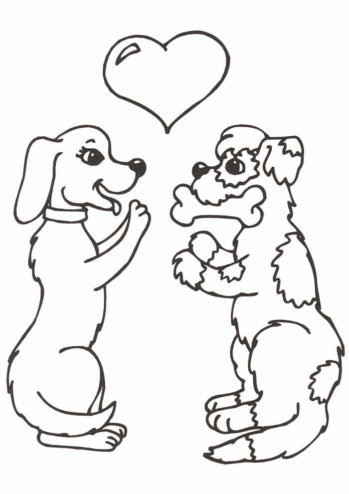 cachorros-para-colorir-namorando