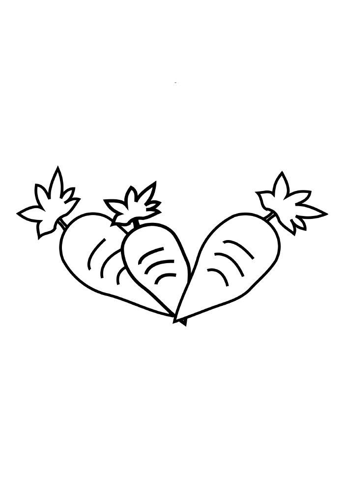 cenoura coelho da páscoa para colorir