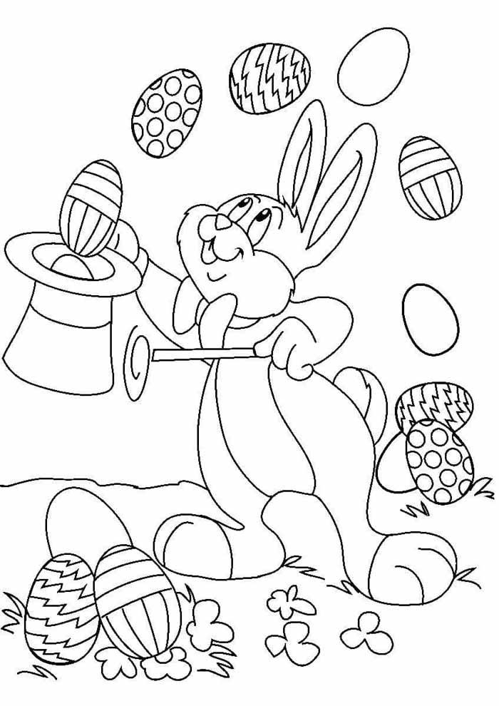 coelho da páscoa malabares ovos