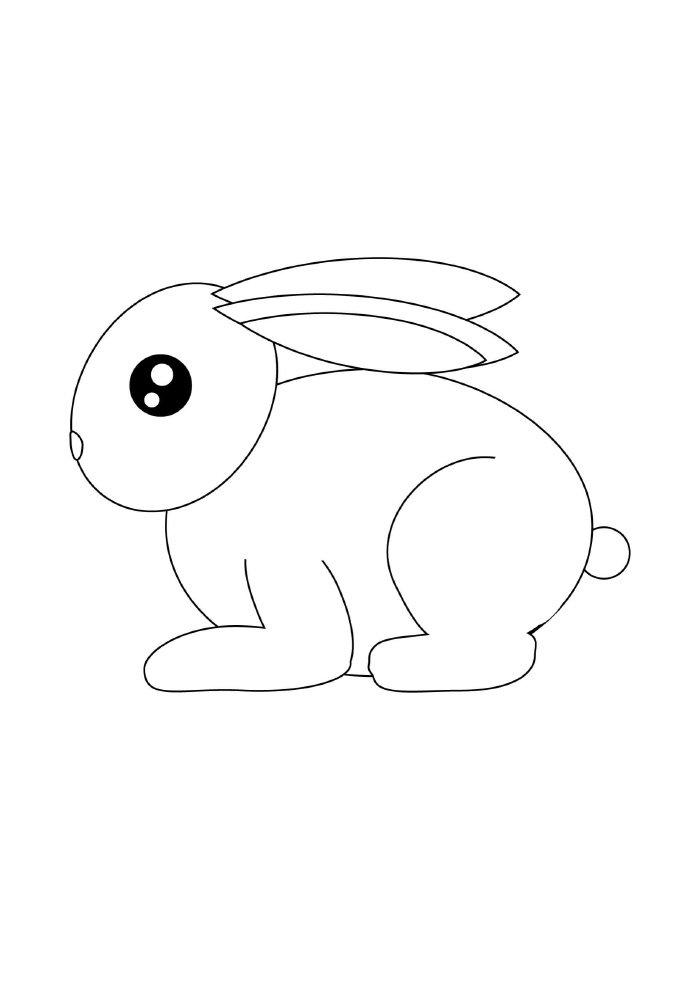 coelho-da-pascoa-para-colorir-de-perfil