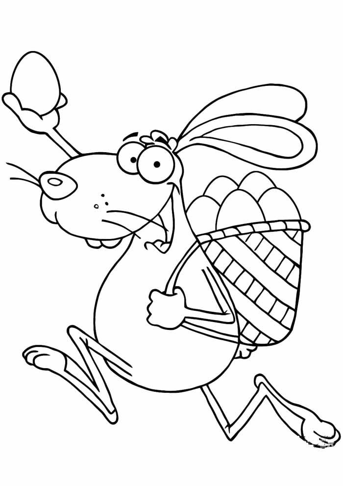 coelho de páscoa para colorir 1