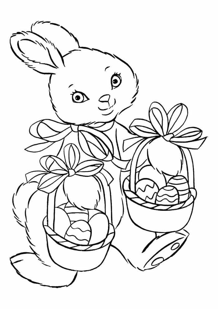 coelho e ovos de páscoa