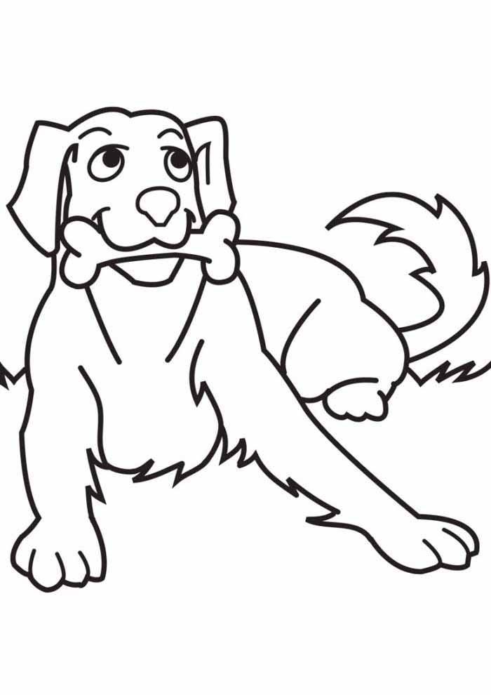 desenho-de-cachorro-para-colorir-com-osso-na-boca