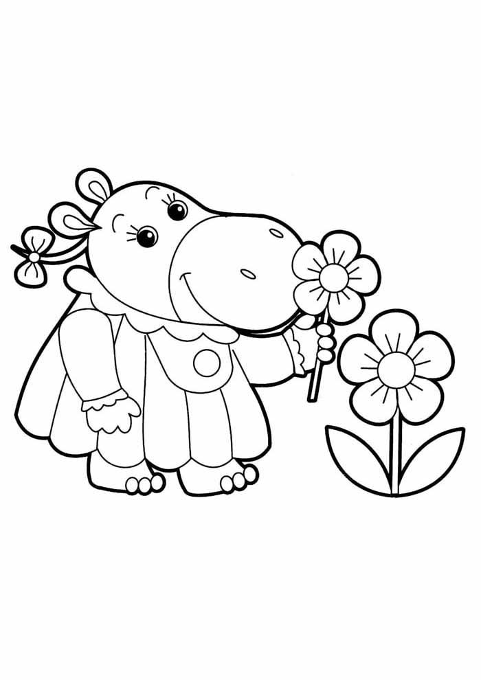 desenho-infantil-para-colorir-elefoa-e-flores