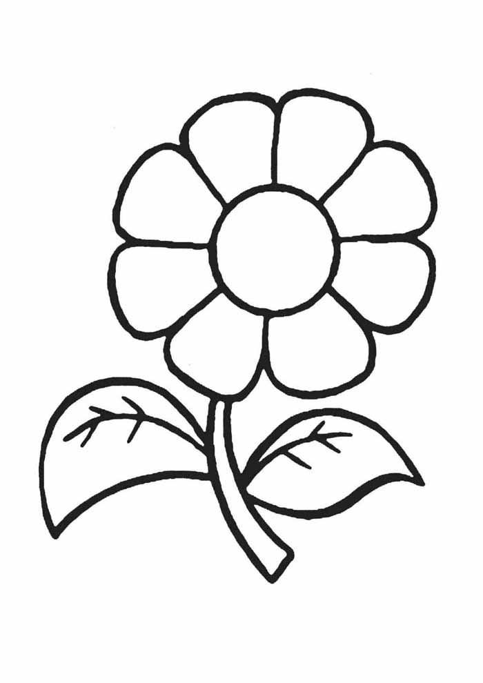 desenho-infantil-para-colorir-flor
