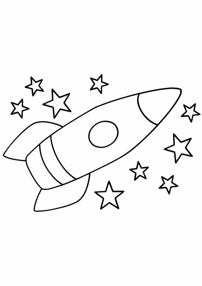 desenho-infantil-para-colorir-foguete