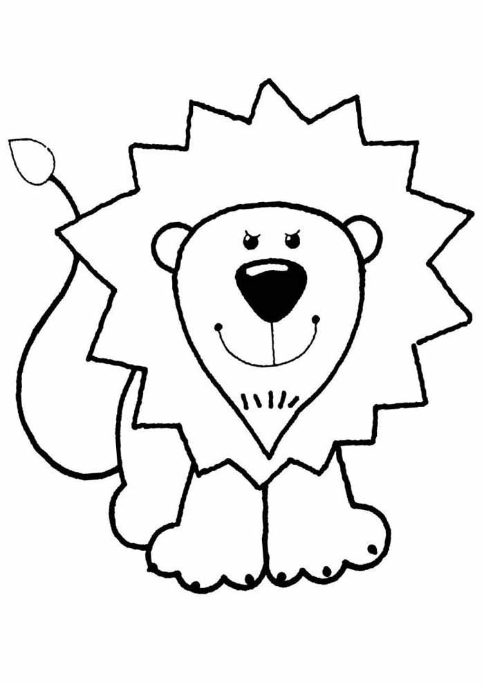 desenho-infantil-para-colorir-leao
