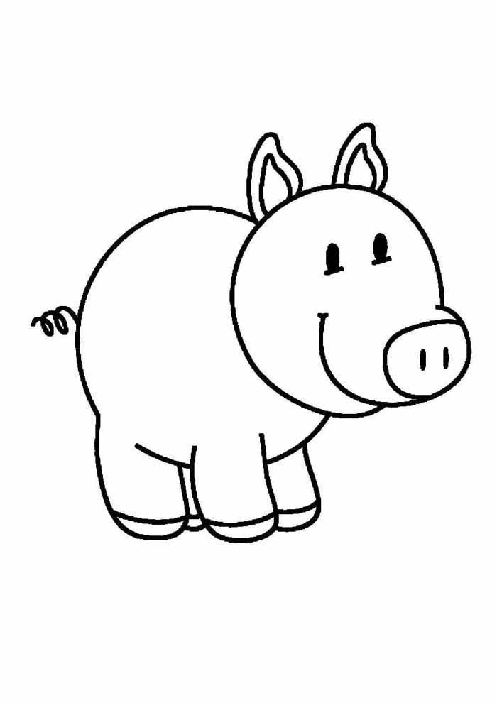 desenho-infantil-para-colorir-porco