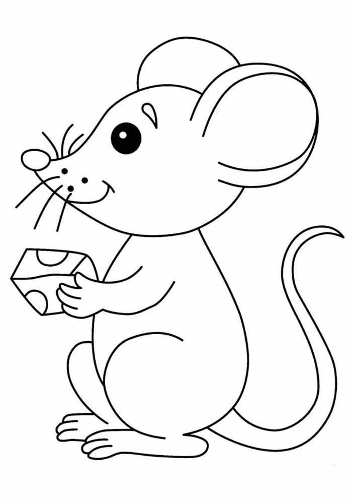desenho-infantil-para-colorir-ratinho