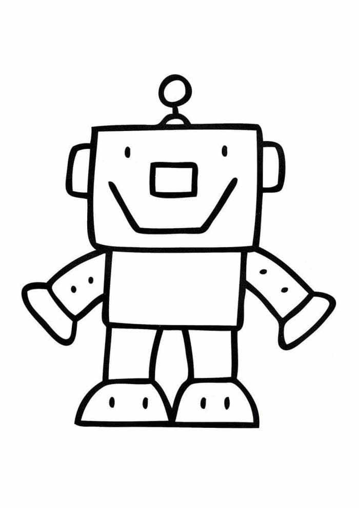 desenho-infantil-para-colorir-robo