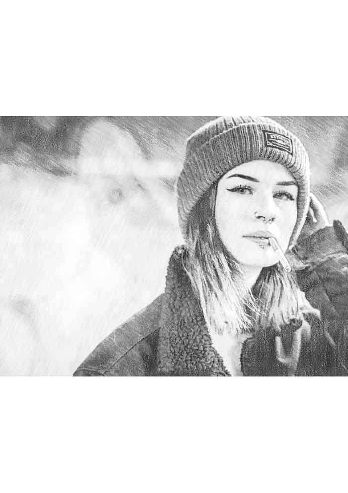 desenho-tumblr-gorro-e-cigarro
