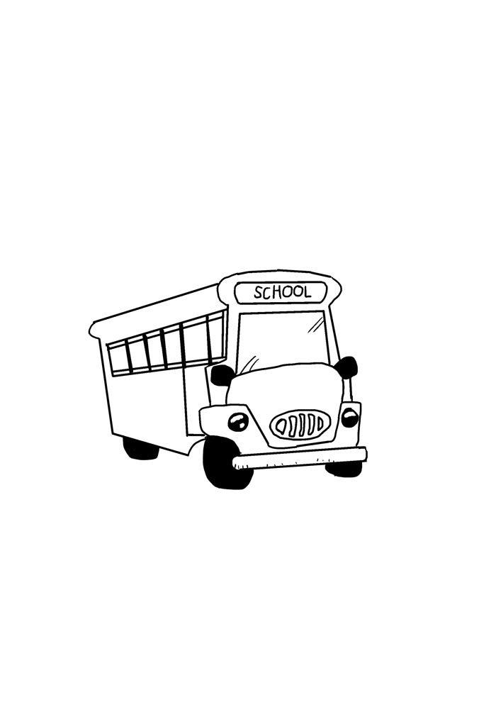 escola para colorir ônibus da escola