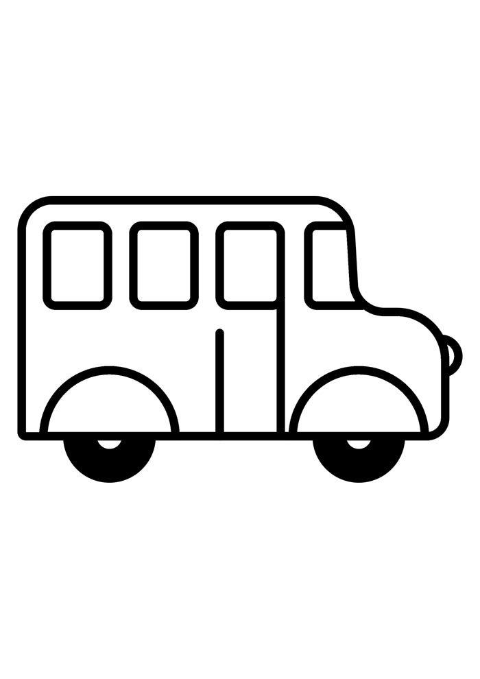 escola para colorir ônibus escolar
