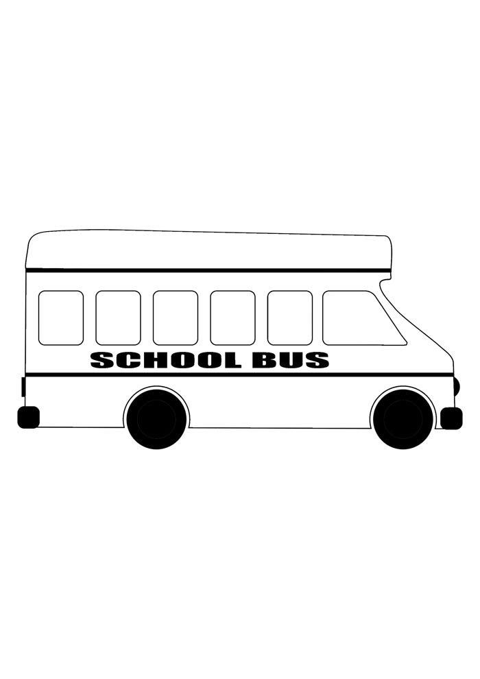 escola para colorir ônibus