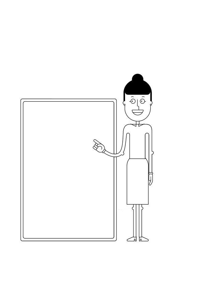 escola para colorir professora na sala de aula